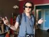 Damian lors du tournage